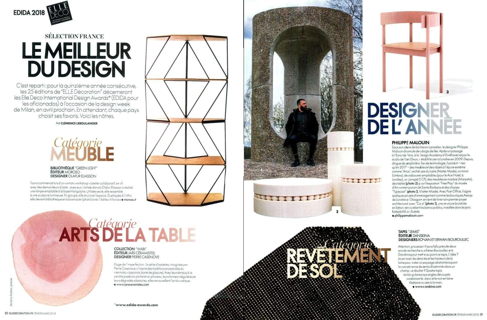 Elle Decoration - France | Press | Marsotto Edizioni