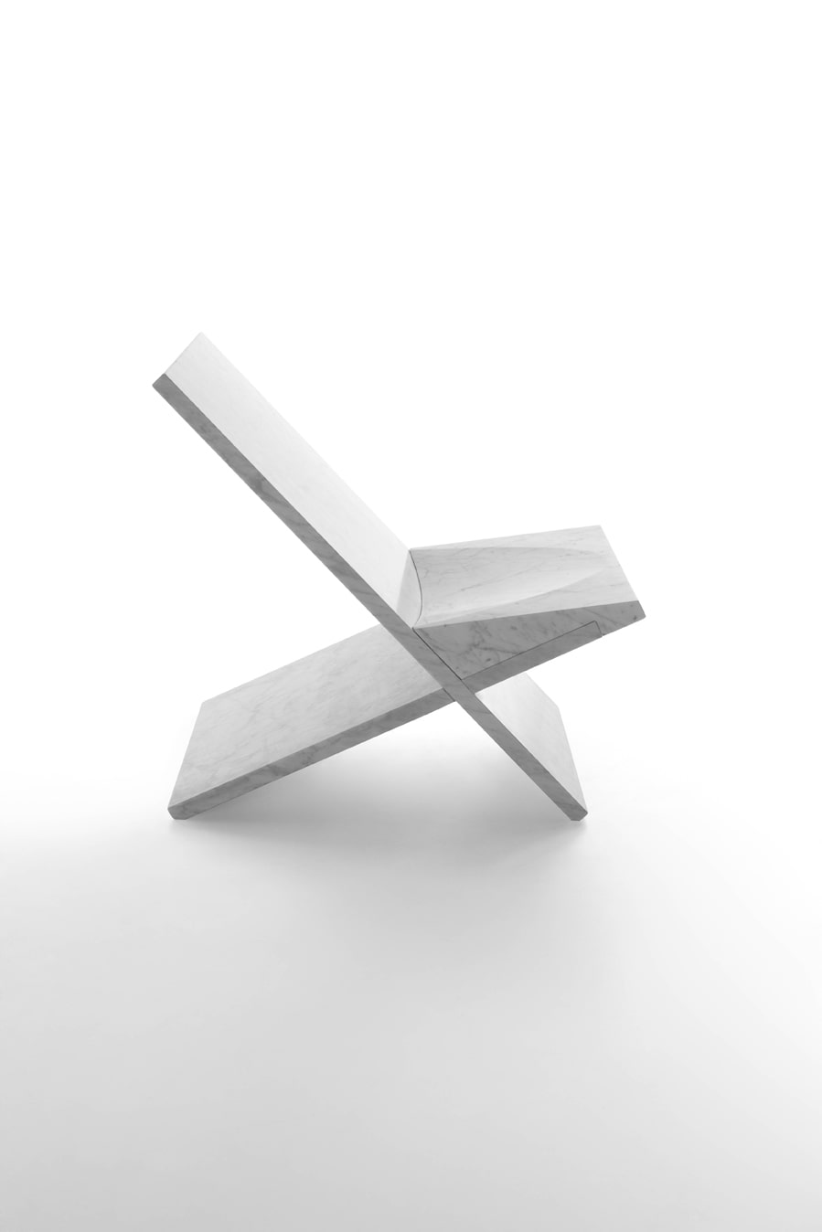 Sultan Chair By Konstantin Grcic In White Carrara Marble, Matt Polished  Finish.