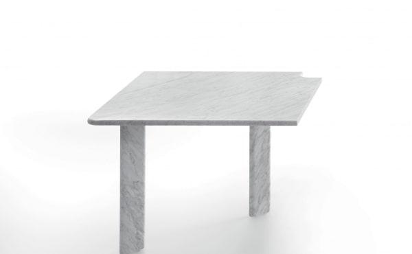 table in white carrara marble design naoto fukasawa