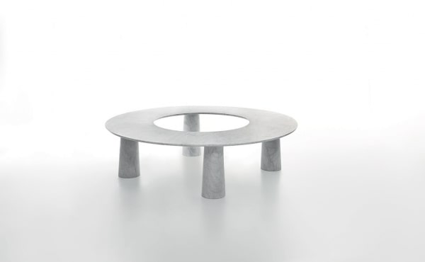 Arena Modular table system in White Carrara marble