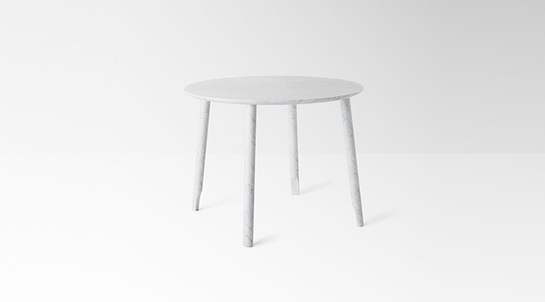 dining table Ballerina 72 in white carrara marble