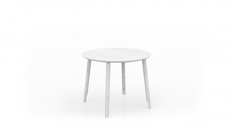 dining table Ballerina 72 in white carrara marble