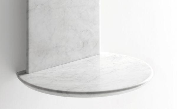 Bebek by Konstantin Grcic. Shelf in White Carrara marble