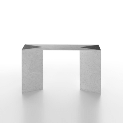 closer console in white carrara marble