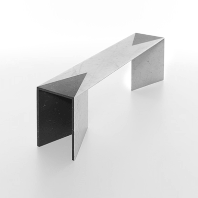 closer low table in marble