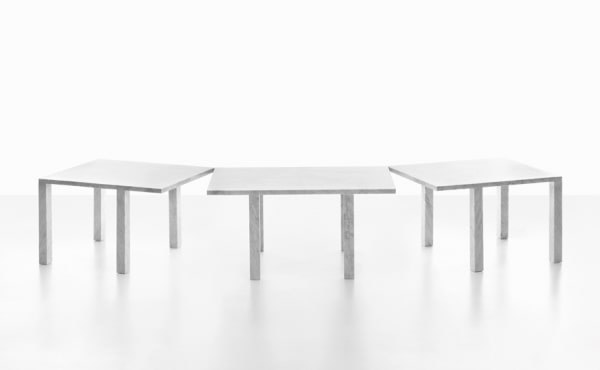 Modular table system in marble Colonnade