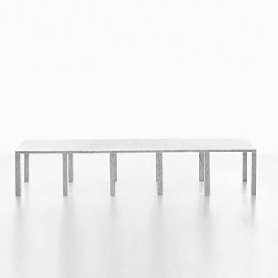 Colonnade modular table system in marble