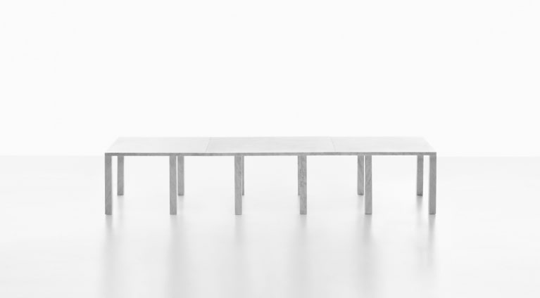 modular table system Colonnade in marble