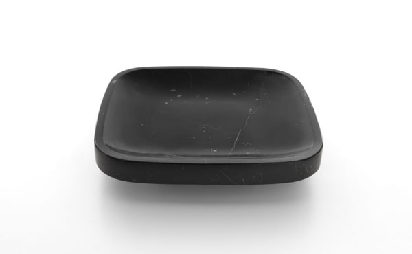 hexagonal fruit bowl in black marquina marble Dina