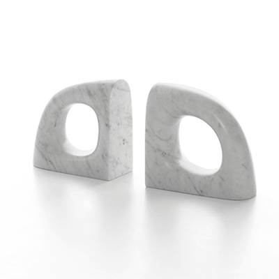 eco book end in marble