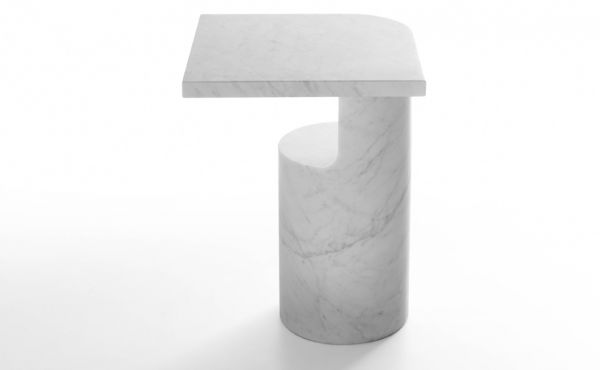 side table Galata in white carrara marble