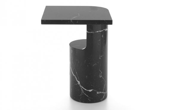 side table Galata in black marquina marble