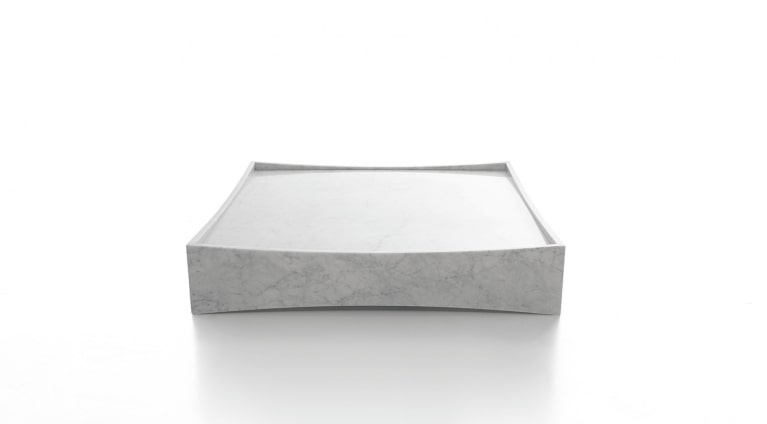 Gallery low table in white carrara marble