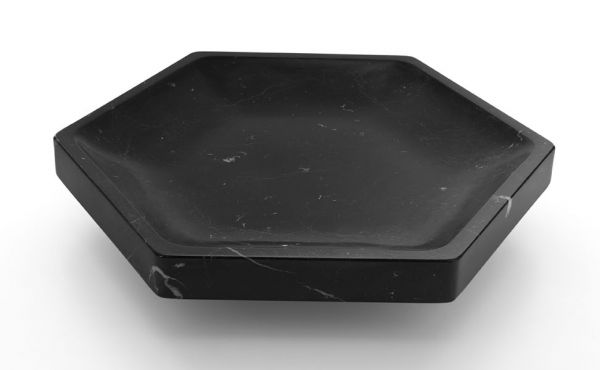Gina fruit bowl design by james irvine in black marble