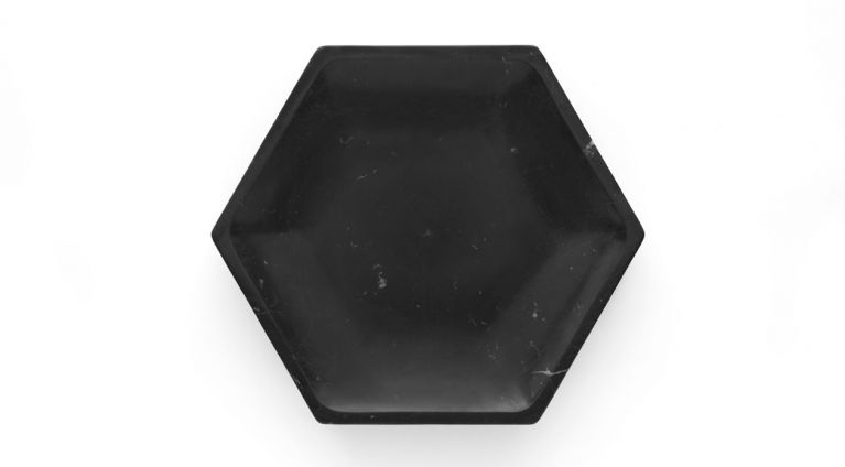 Gina fruit bowl in black marquina marble