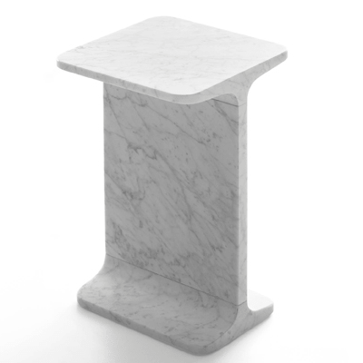 ipe quadro side table in marble
