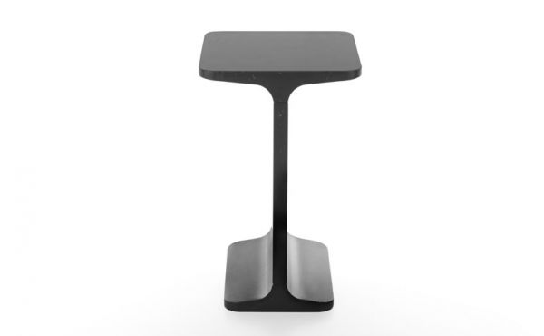 side table in black marquina marble Ipe Quadro