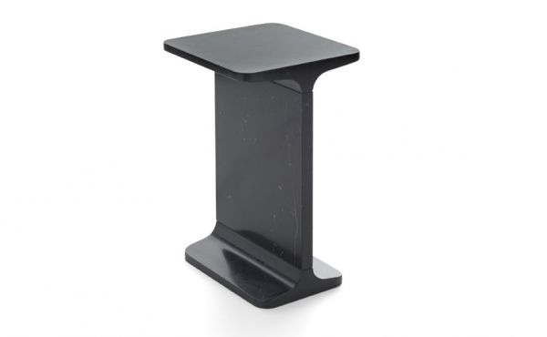side table Ipe Quadro in black marquina marble