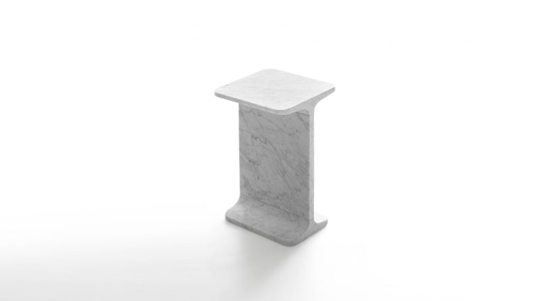 side table Ipe quadro in marble