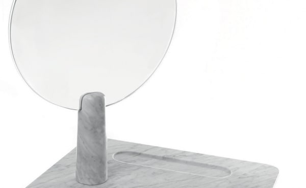 Isa dressing table in Carrara marble, by Studio Irvine in White