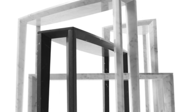 Lou side tables in marble by Lawrence Steele