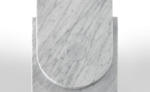 rotating top extension in marble