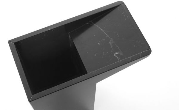 umbrella stand design by Maddalena Casadei in black marble