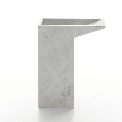 Lello umbrella stand in marble