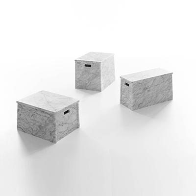 London, Paris, Rome low tables in marble
