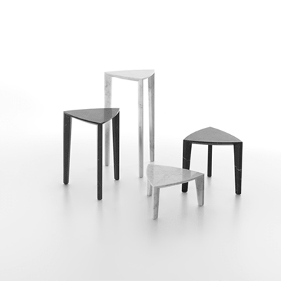 Lou side table in marble
