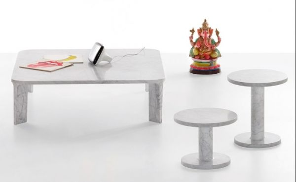 low table in marble design by Naoto Fukasawa
