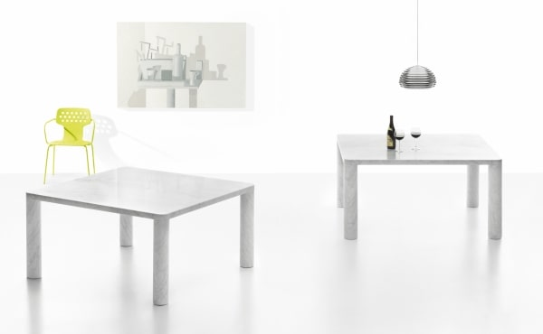 King Poodle dining table in marble design by Naoto Fukasawa