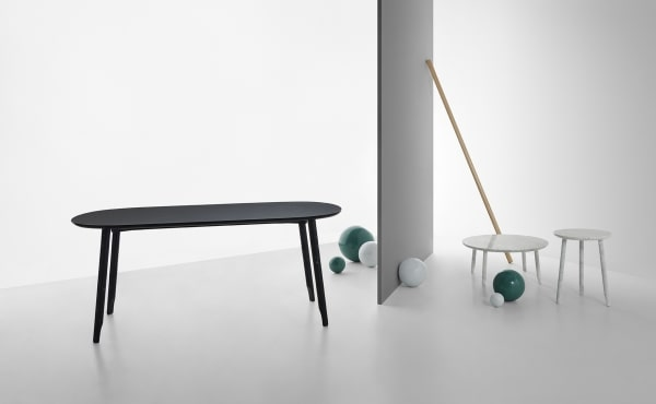 Ballerina 72 dining table design by Nendo Oki Sato