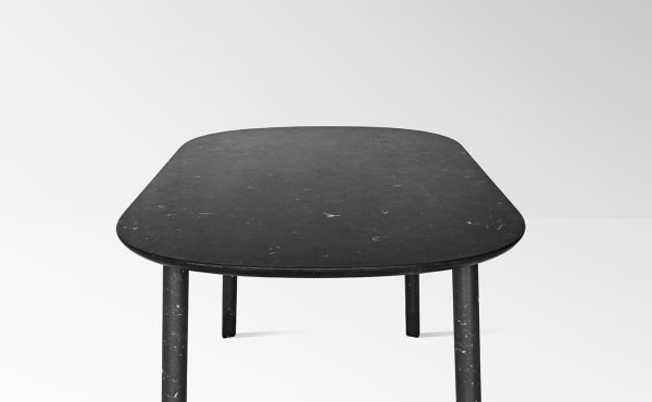 dining table in black marquina marble Ballerina 72