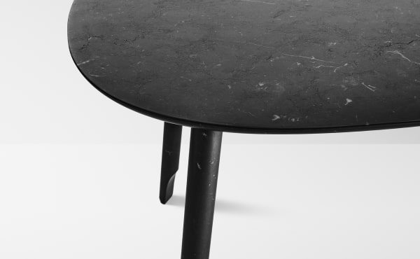 dining table in black marble design by Nendo Oki Sato