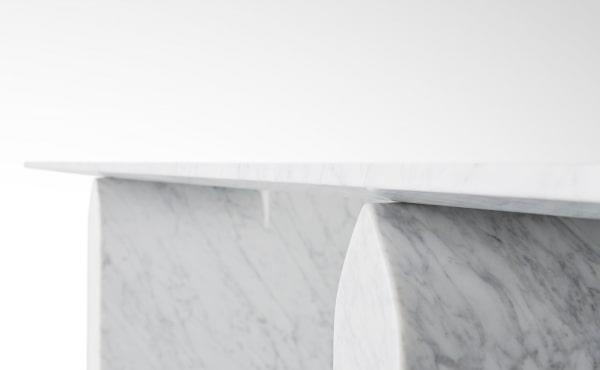 Nendo Oki Sato dining table in marble