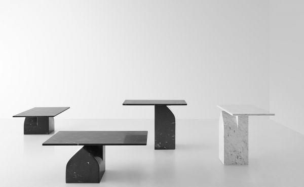 Seesaw 30 in marble design by Nendo Oki Sato