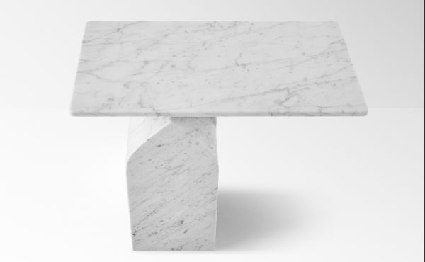 Seesaw 50 in White Carrara marble
