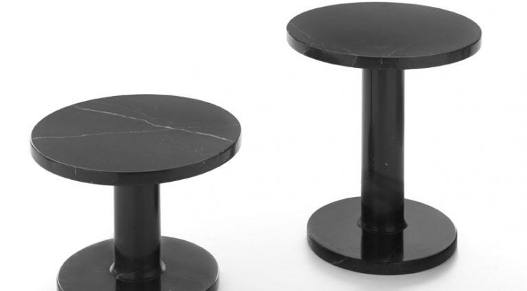 Marbelous low table in black marquina marble