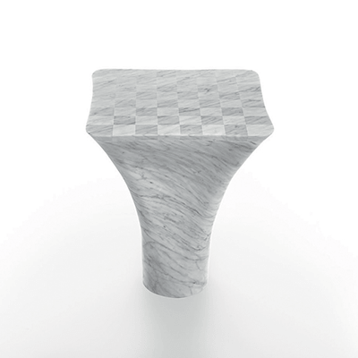 Mate chess table in marble