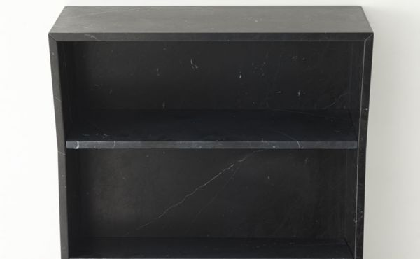 book case in black marquina marble