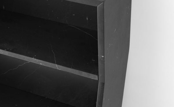 melt book case in black marquina marble
