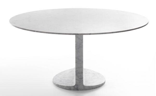Dining table in White Carrara marble