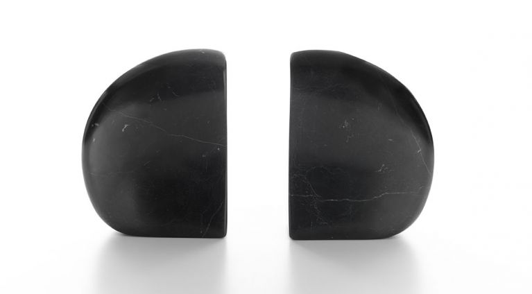 book ends neruda in black marble