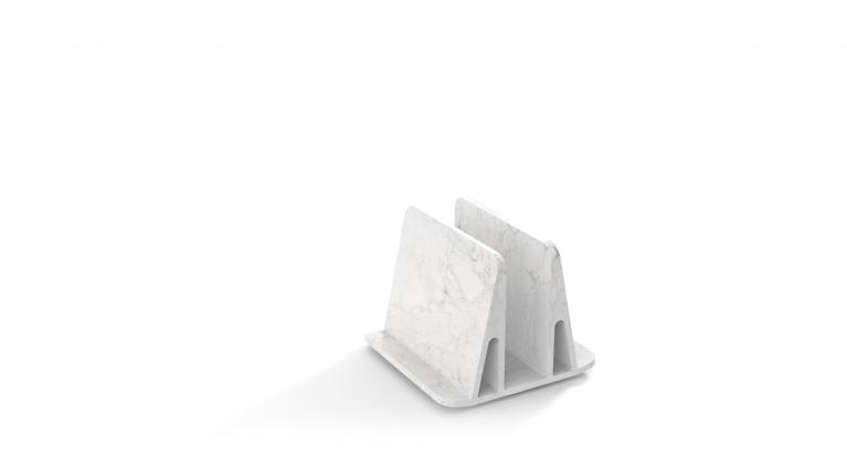 magazine holder in marble