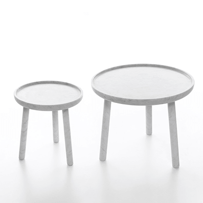 Perpignan & Toulouse side tables in marble
