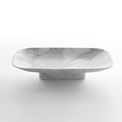 Pia fruit bowl in white carrara marble