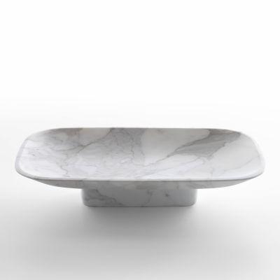 Pia fruit bowl in white carrara marble