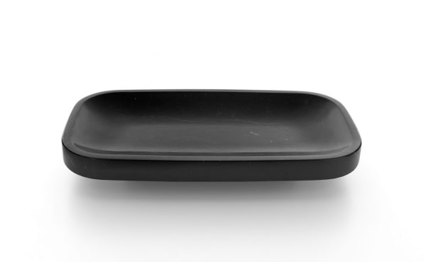 Oval fruit bowl in black marble Pina