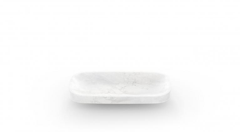 Fruit bowl Pina in white carrara marble